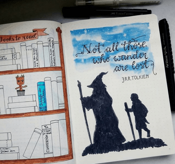 goodvibes_lettering Lord of the Rings Quote Page