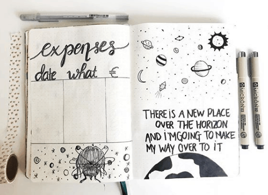 journalandstudies A Themed Expense Tracker