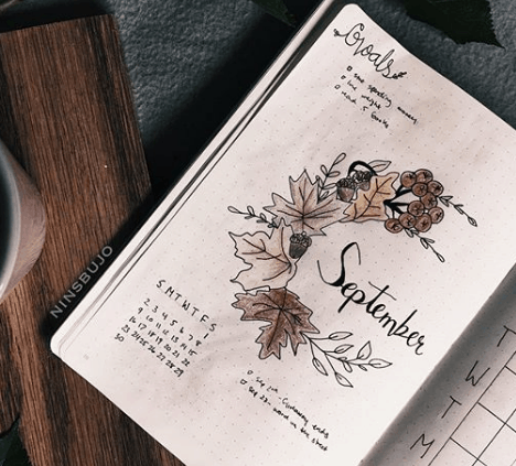 ninsbujo Fall Monthly Spread