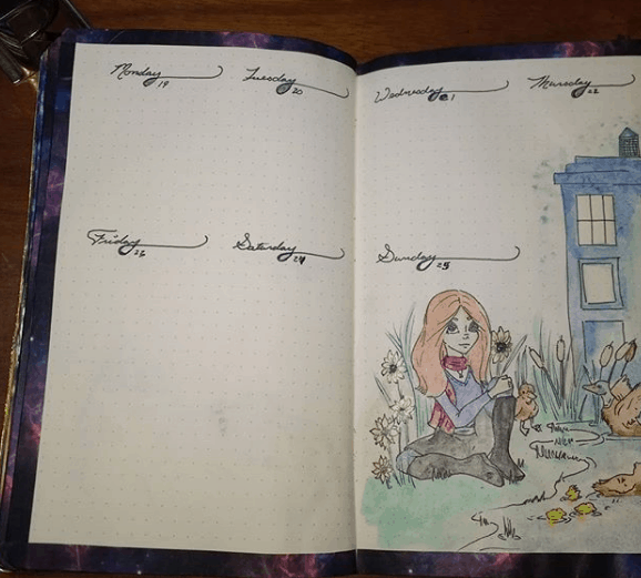 totally_todorovich Amy Pond Weekly Spread
