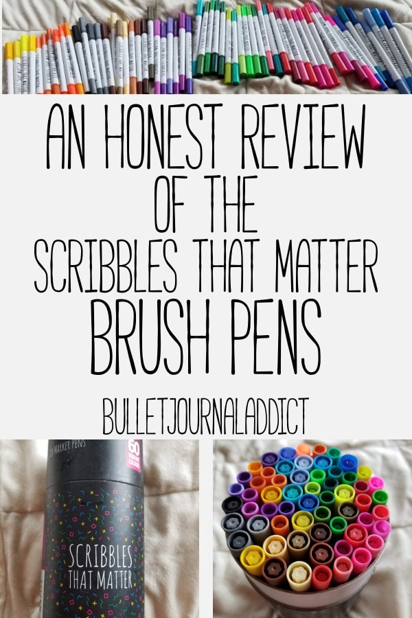 Best Bullet Journal Supplies - Brush Lettering and Brush Pens for Beginners - An Honest Review Of The Scribbles That Matter Brush Pens
