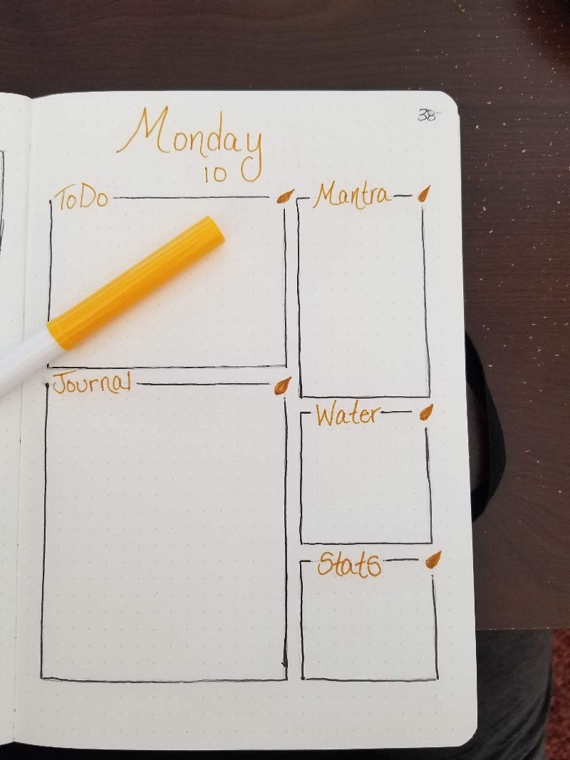 Bullet Journal ADHD Management - Daily