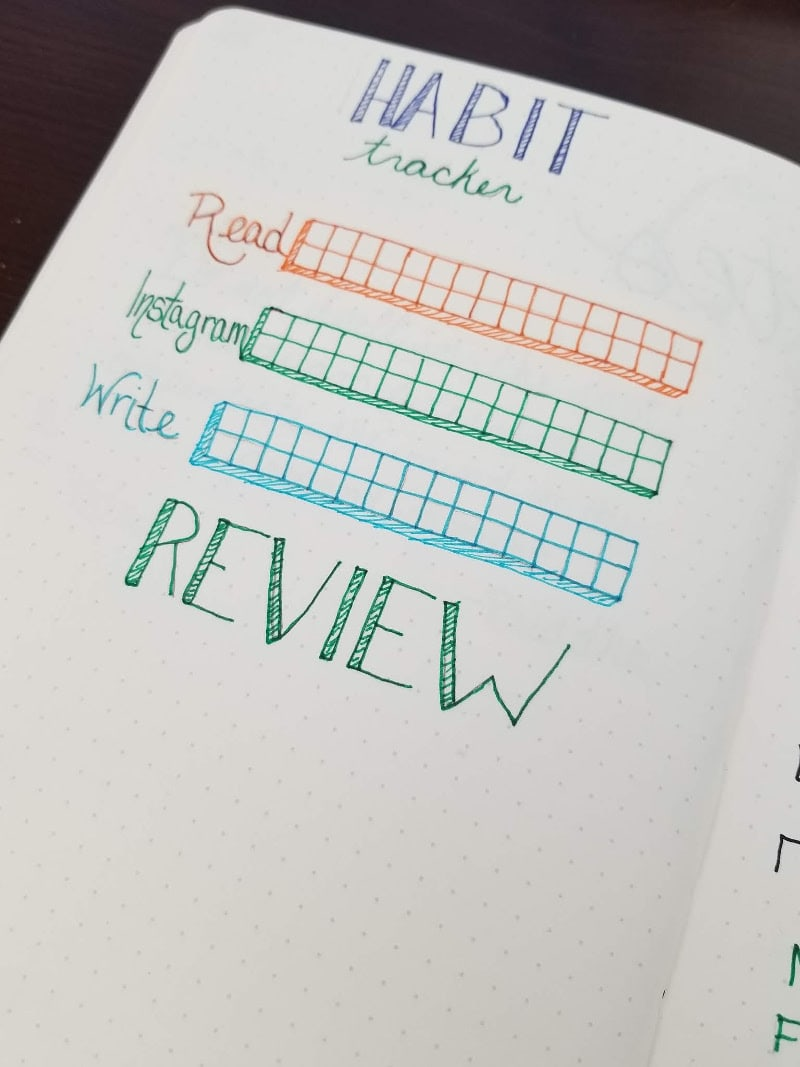 Bullet Journal ADHD Management - Habit Tracking