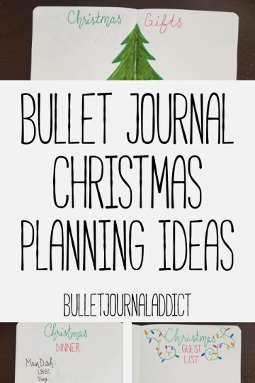 BULLET JOURNAL CHRISTMAS PLANNING IDEAS