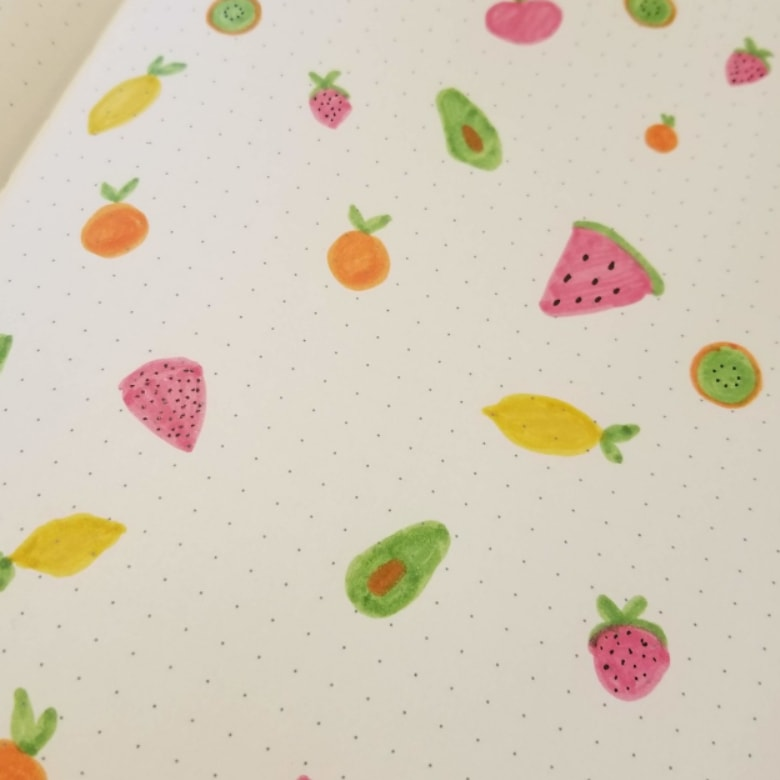 Bullet Journal Fruit Themes - How To Draw Fruit in your Bullet Journal