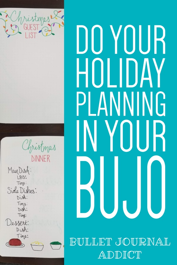 Do Your Holiday Planning In Your BuJo