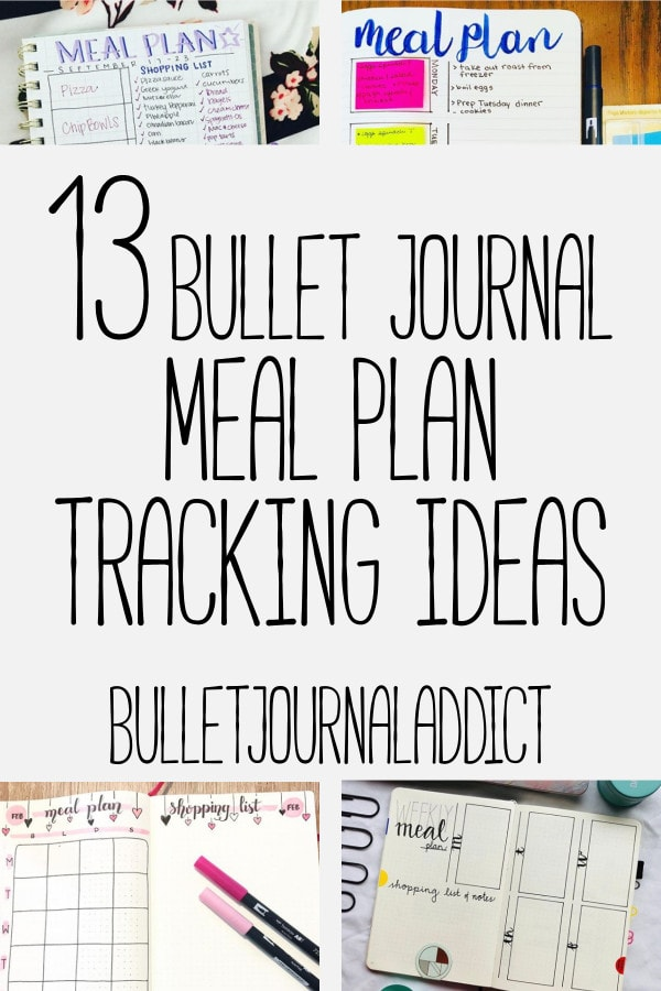 Bullet Journal Meal Plan Tracking Ideas - Meal Planning Spreads For Bullet Journals - 13 Bullet Journal Meal Plan Tracking Ideas
