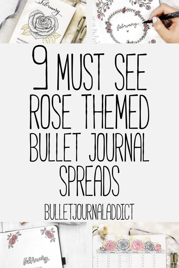 Bullet Journal Rose Doodles and How To Draw Roses - Bullet Journal Examples of Rose Themes - 9 Must See Rose Themed Bullet Journal Spreads
