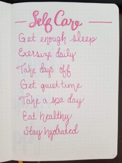 Bullet Journal Self Care Collection