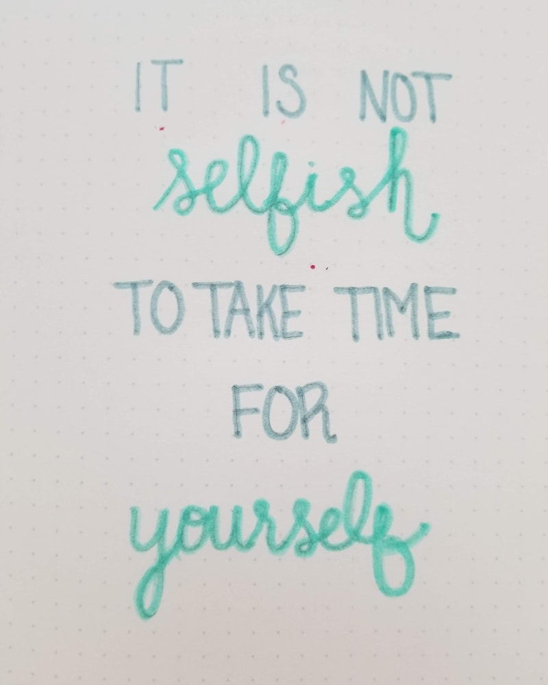 Bullet Journal Self Care Quote