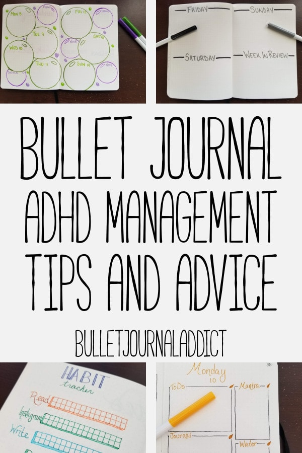 Bullet Journal Spreads and Layouts for Managing ADHD - How to Manage ADHD with a Bullet Journal - Bullet Journal ADHD Management Tips and Advice