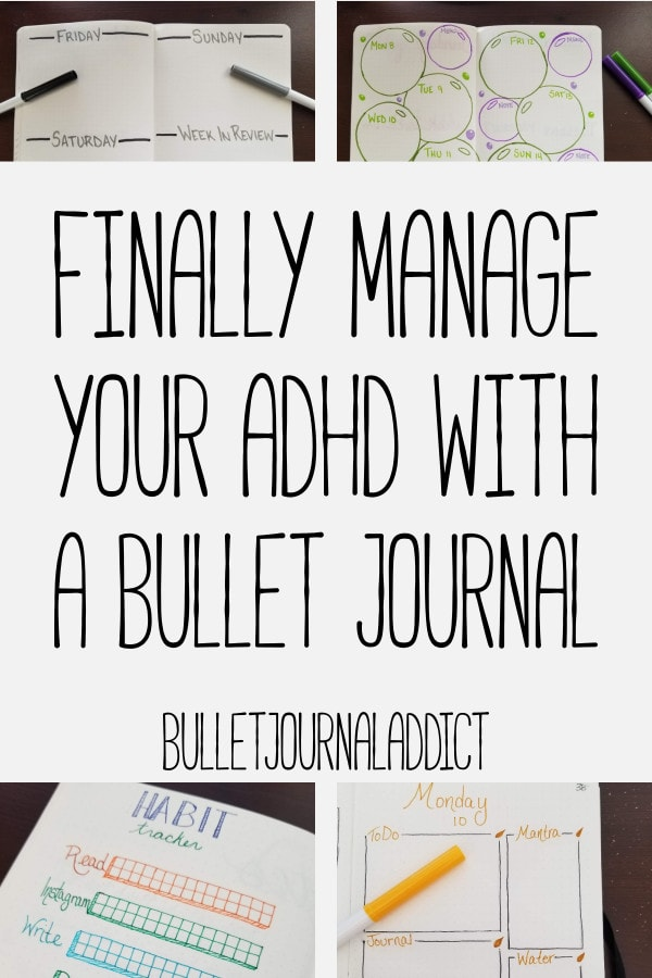 Bullet Journal Spreads and Layouts for Managing ADHD - How to Manage ADHD with a Bullet Journal - Finally Manage Your ADHD With A Bullet Journal