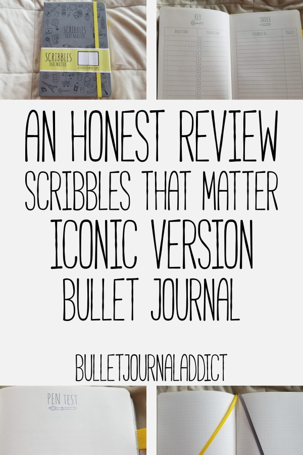 Bullet Journal Supplies and Reviews - Scribbles That Matter Bullet Journal Review - Best Bullet Journals - An Honest Review Scribbles That Matter Iconic Version Bullet Journal