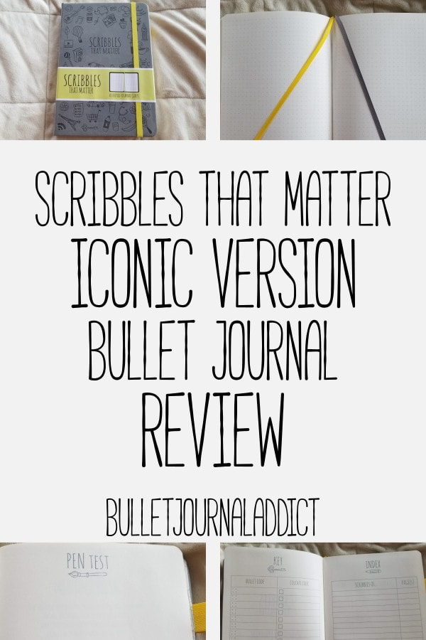 Bullet Journal Supplies and Reviews - Scribbles That Matter Bullet Journal Review - Best Bullet Journals - Scribbles That Matter Iconic Version Bullet Journal Review