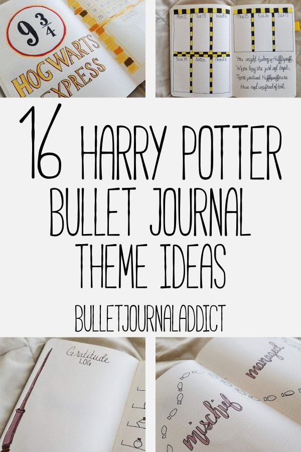 Bullet Journal Theme Ideas For Harry Potter - Harry Potter Spreads, Layouts, and Theme - 16 Harry Potter Bullet Journal Theme Ideas