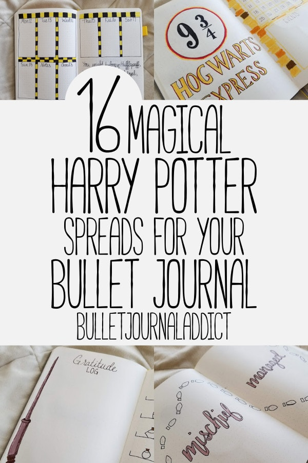 Bullet Journal Theme Ideas For Harry Potter - Harry Potter Spreads, Layouts, and Theme - 16 Magical Harry Potter Spreads For Your Bullet Journal