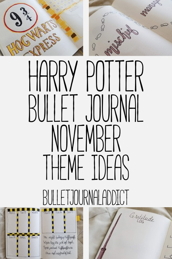 Bullet Journal Theme Ideas For Harry Potter - Harry Potter Spreads, Layouts, and Theme - Harry Potter Bullet Journal November Theme Ideas