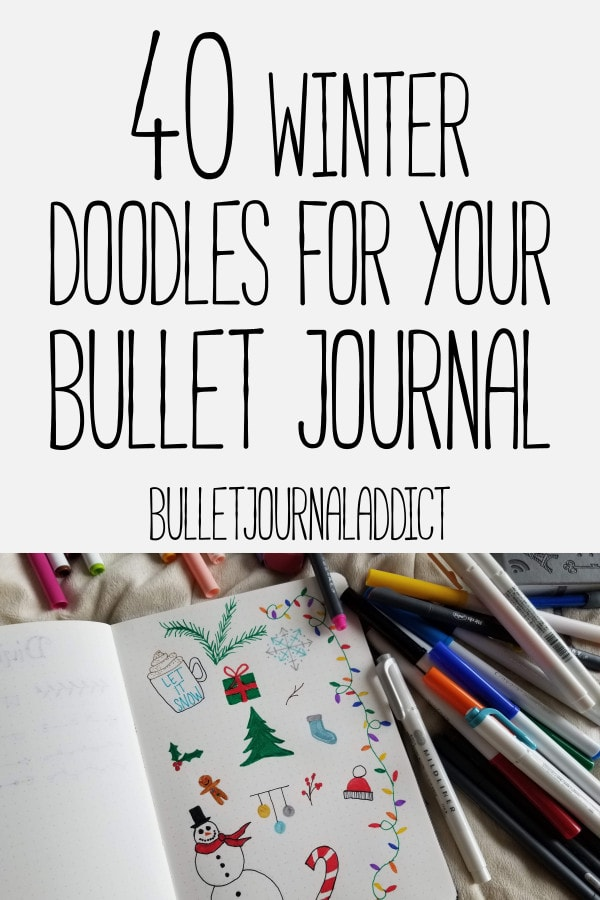 Bullet Journal Winter Doodle Ideas - Winter Doodles and Designs For Your Bullet Journal - 40 Winter Doodles For Your Bullet Journal