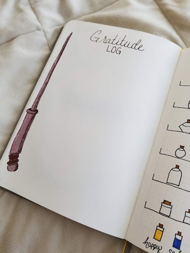 Harry Potter Spreads - Gratitude Log