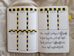 Harry Potter Spreads - Hufflepuff Weekly Spread
