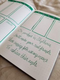 Harry Potter Spreads - Slytherin Quote
