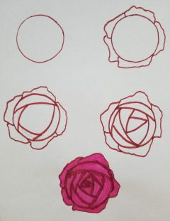 How To Draw Roses - Open and Easy