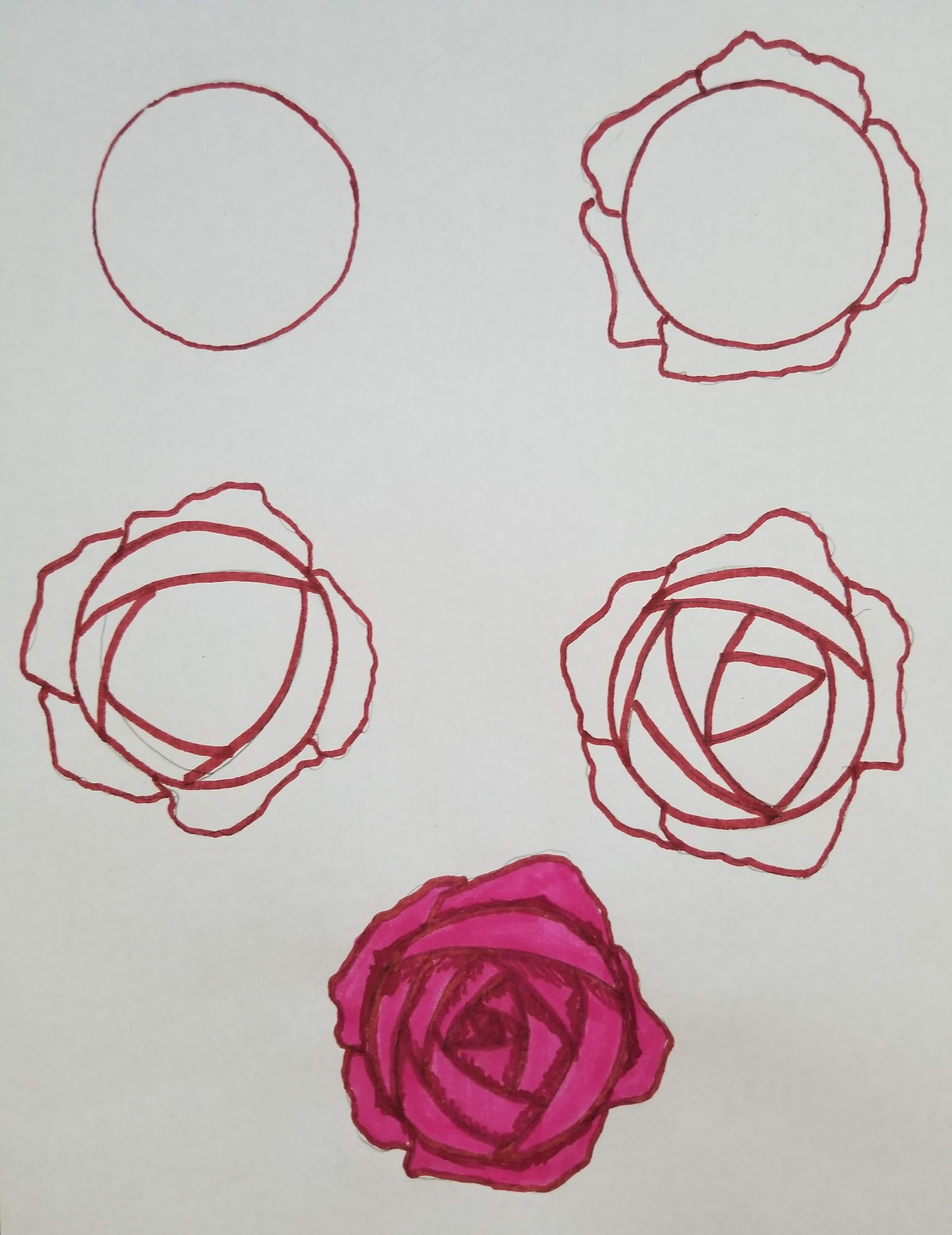 how to draw roses rose themes for bullet journals bullet journal