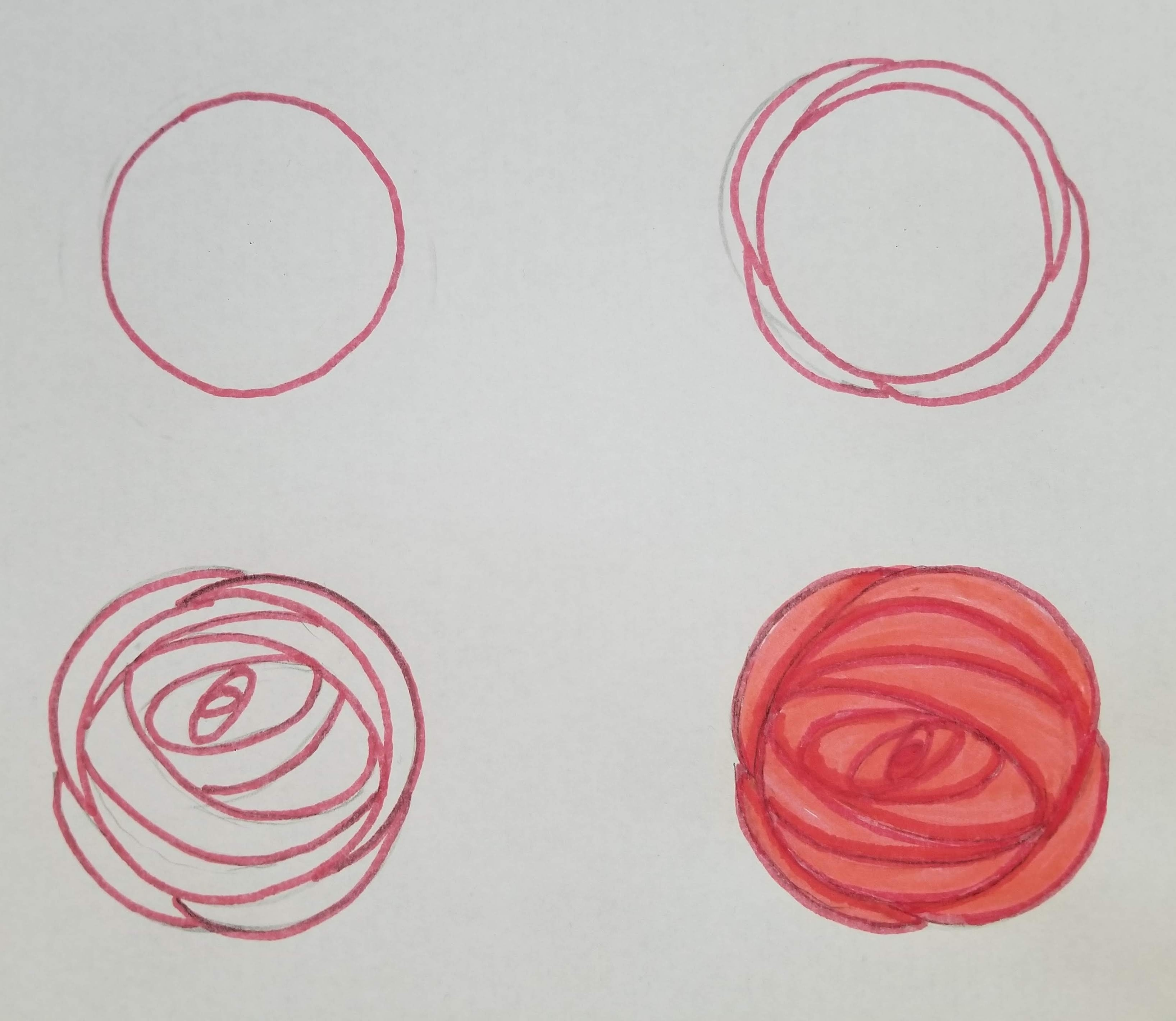 How To Draw Roses - Oval Shapes