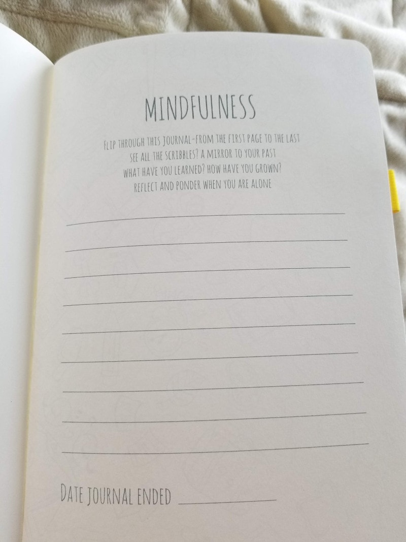 Scribbles That Matter Journal Review - Mindfulness and End Date