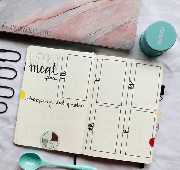 planforproductivity Weekly Meal Plan and Notes