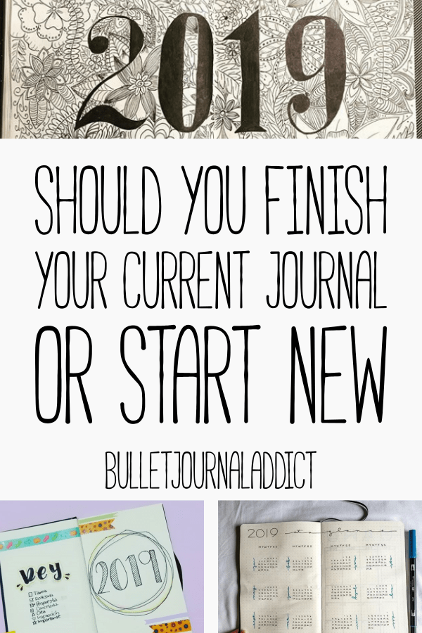 Bullet Journal Tips and Tricks For New Year - Bullet Journal New Year Ideas - Should You Finish Your Current Journal Or Start New