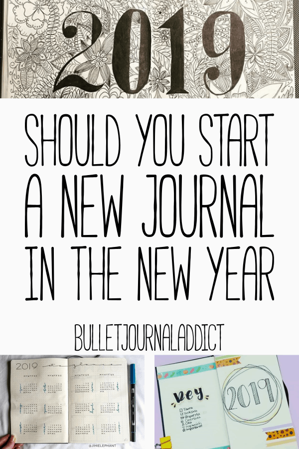 Bullet Journal Tips and Tricks For New Year - Bullet Journal New Year Ideas - Should You Start A New Journal In The New Year