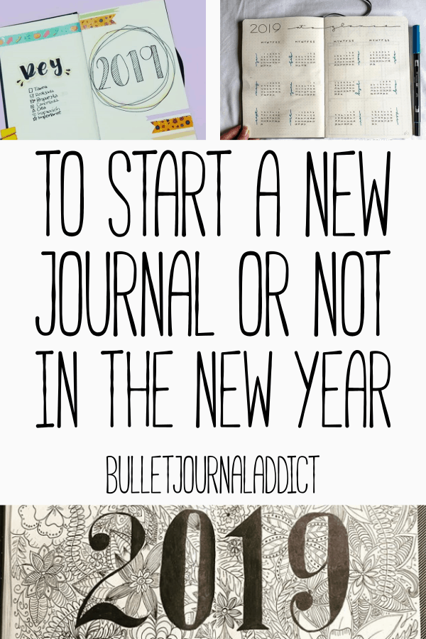 Bullet Journal Tips and Tricks For New Year - Bullet Journal New Year Ideas - To Start A New Journal Or Not In The New Year