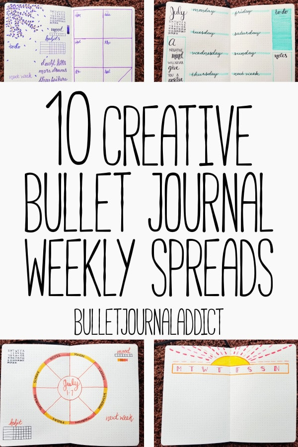 Bullet Journal Weekly Layout - Bullet Journal Weekly Spread Ideas That Range From Simple To Creative - Bullet Journal Weekly Pages - 10 Creative Bullet Journal Weekly Spreads