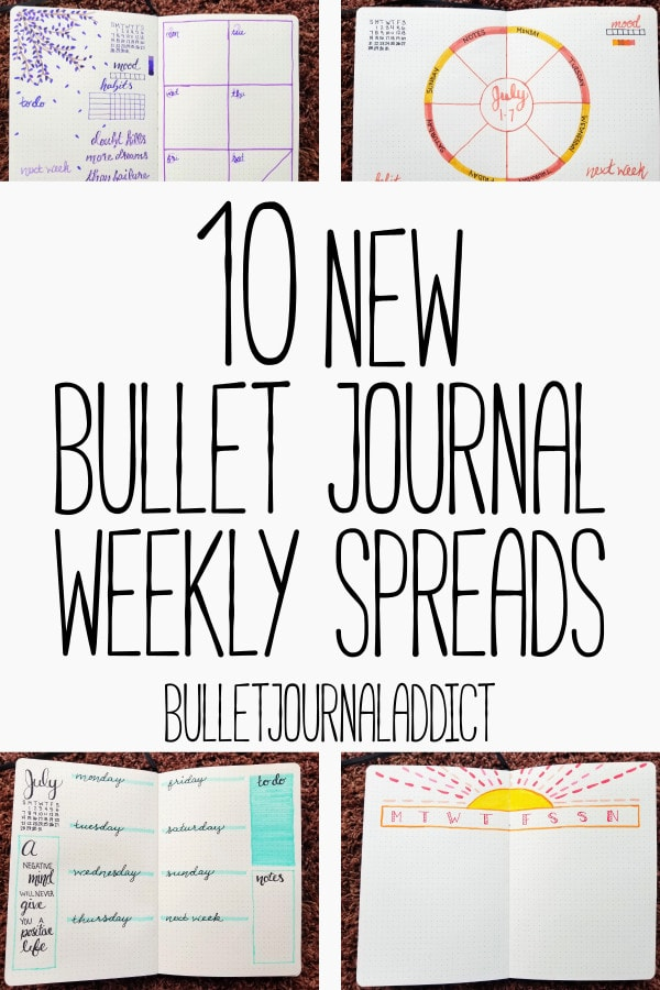 Bullet Journal Weekly Spreads - Minimalist and Functional Weekly Spreads - 10 New Bullet Journal Weekly Spreads
