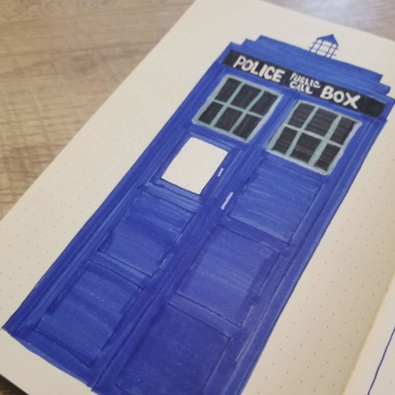 December 2019 Bullet Journal Setup - Doctor Who Bullet Journal Theme