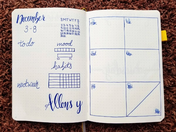 Doctor Who Weekly Spread - Week 1