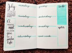 Minimalist Weekly Spread with Quote