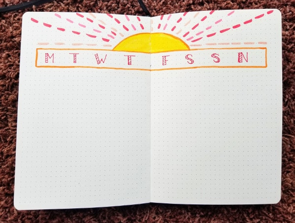 Rising Sun Weekly Spread