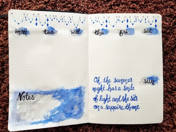 Sapphire Weekly Spread