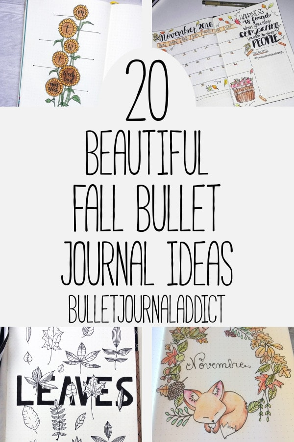 Bullet Journal Ideas For Autumn - Fall Bullet Journal Spreads - Monthly Spreads for Autumn - 20 Beautiful Fall Bullet Journal Ideas