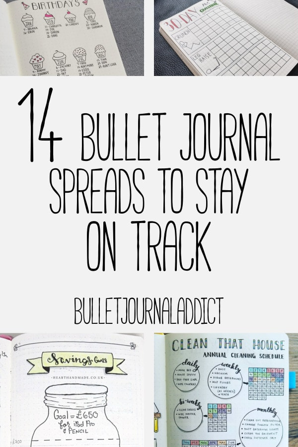 Bullet Journal Ideas for Collections and Pages - Bullet Journal Inspiration for Layouts, Trackrs, and Goals - 14 Bullet Journal Spreads To Stay On Track