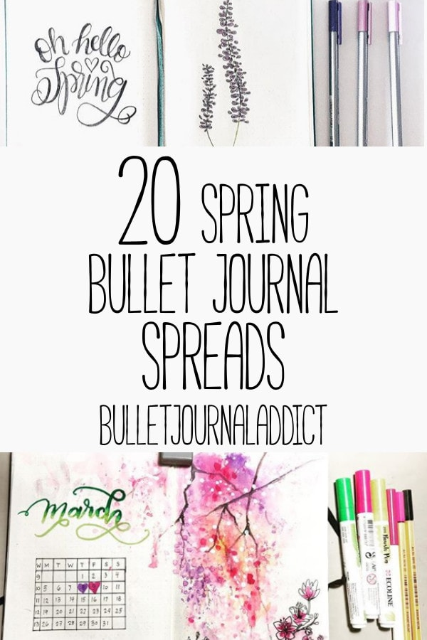 Bullet Journal Ideas for Spring, Bullet Journal Layouts to stay organized this spring - 20 Spring Bullet Journal Spreads