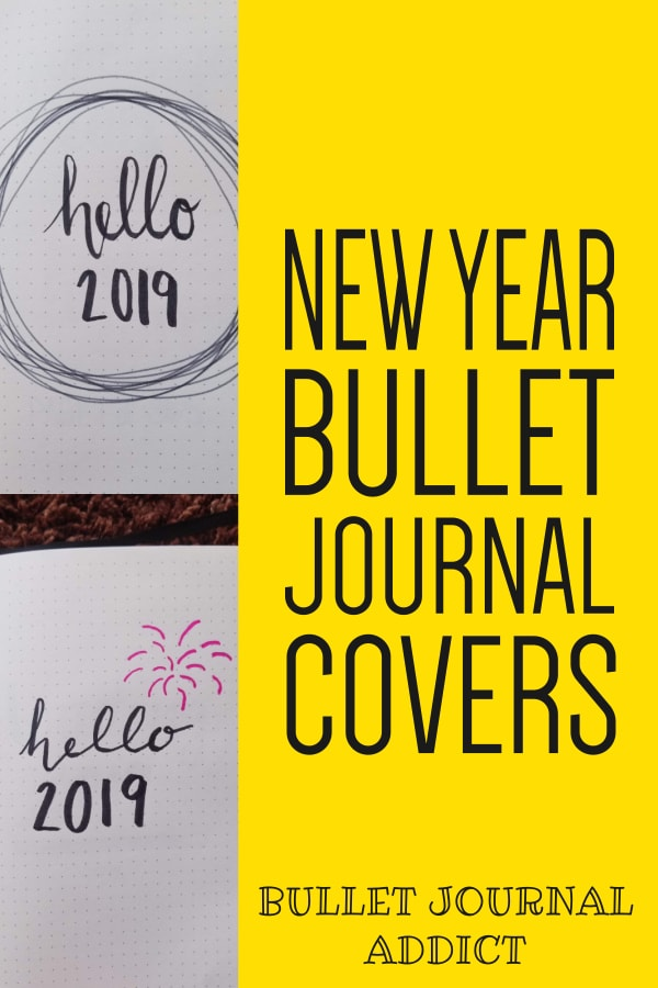 New Year Bullet Journal Covers