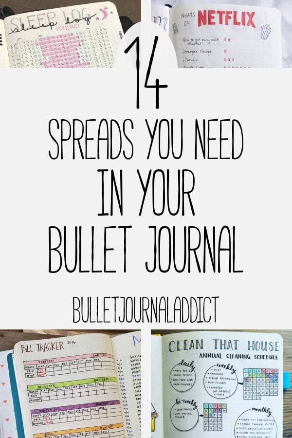 Bullet Journal Spreads - Best Bullet Journal Layouts for Everything - 14 Spreads You Need In Your Bullet Journal