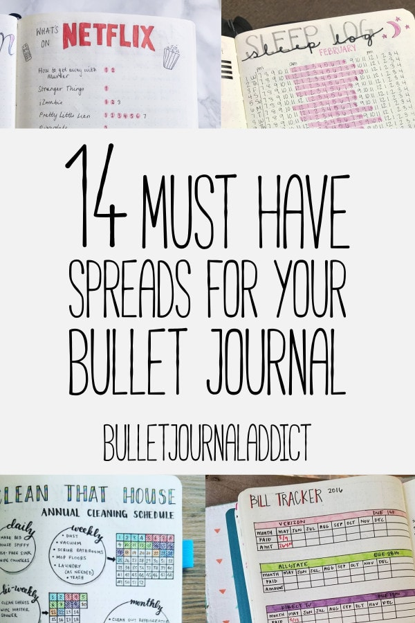 Bullet Journal Spreads - Best Bullet Journal Layouts for Everything You Want To Track- 14 Must Have Spreads You Need In Your Bullet Journal