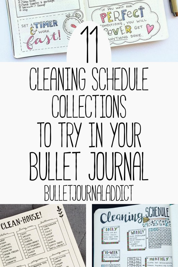 Bullet Journal Spreads for Cleaning Schedules - Cleaning Schedule Bullet Journal Layouts - 11 Cleaning Schedule Collections To Try In Your Bullet Journal