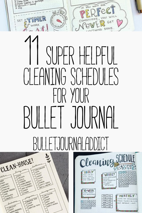 11 Bullet Journal Cleaning Schedules - Bullet Journal Addict