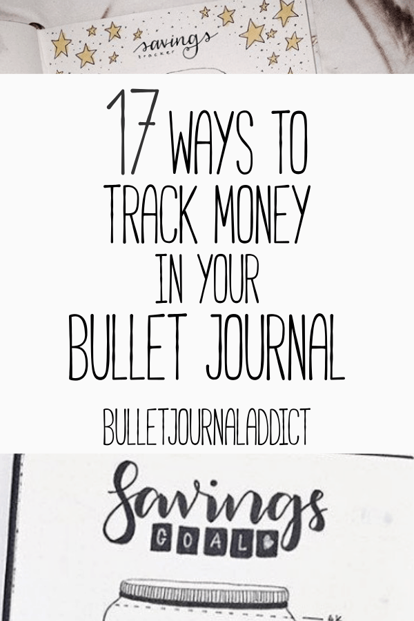17 bullet journal pages to track money bullet journal addict
