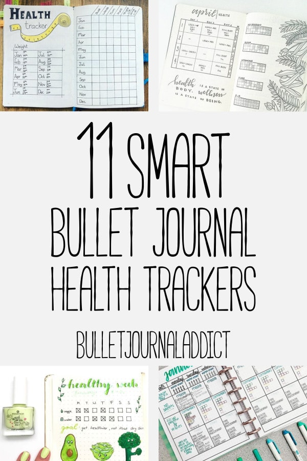 Bullet Journal Tracker Ideas To Track Healthy Habits - Fitness Trackers and Goal Setting For Bullet Journal - 11 Smart Bullet Journal Health Trackers